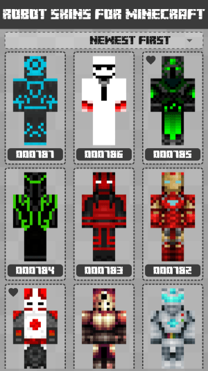 Robot Skins for Minecraft PE 1.0.8.060 Screen 1