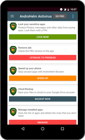 Android AntiVirus for Android Security Screen 6