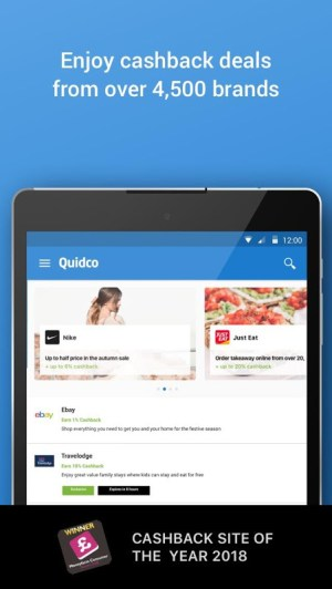 Android Quidco - Cashback, Discounts & Voucher Codes Screen 4