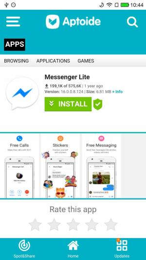 Android Aptoide Lite Screen 2