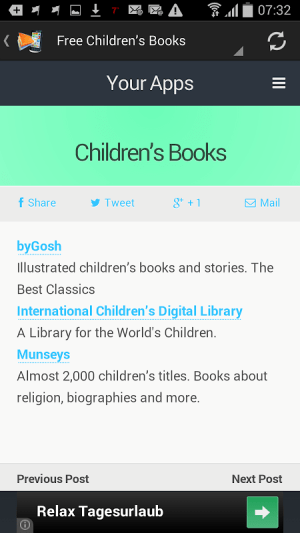 Download Free ebooks Android 1.0 Screen 5