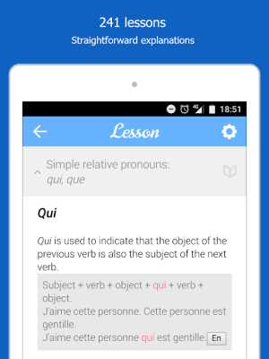 Dr French, French grammar 1.0.10 Screen 2