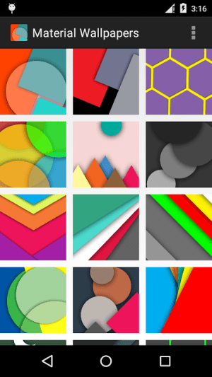 Android Material Design Wallpapers Screen 3