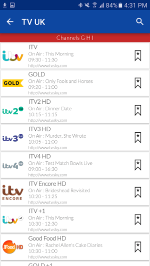 UK Live TV Guide 1.0 Screen 3