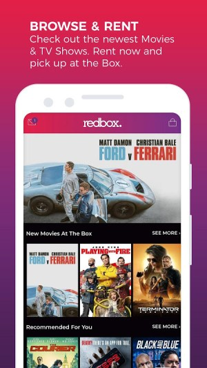 Android REDBOX: Rent, Stream & Buy Screen 1
