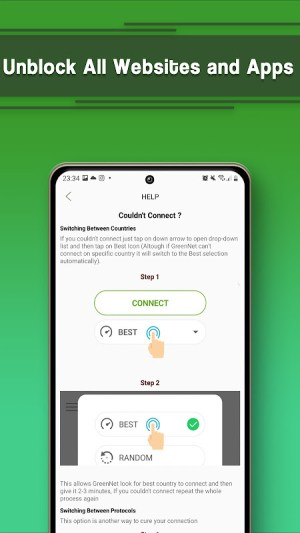 VPN Free - GreenNet Unlimited Hotspot VPN Proxy 1.5.2 Screen 3