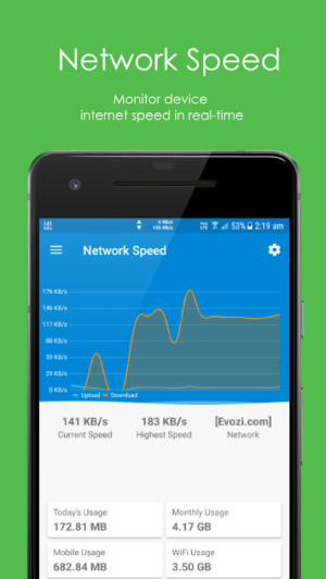 Network Speed - Monitoring - Speed Meter 1.1.1 Screen 1