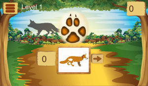 Guess the animal tracks 1.4 Screen 1