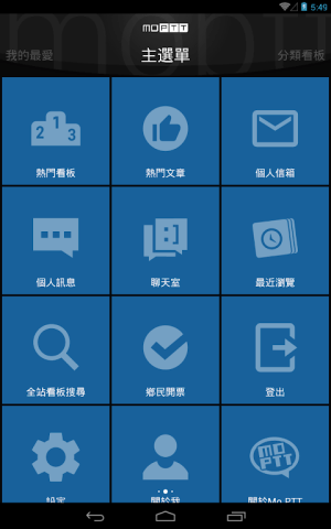 Mo PTT 9.6.6 Screen 1