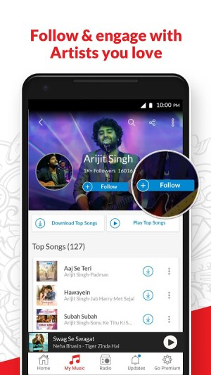 Android Wynk Music - Download & Play Songs, MP3, HelloTune Screen 4