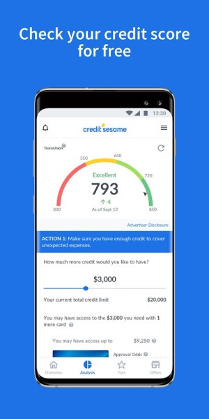 Credit Sesame-Personalized Credit Score Tips 4.10 Screen 2