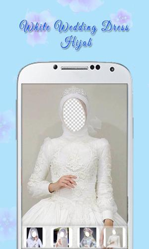 White Wedding Dress Hijab 1.3 Screen 1