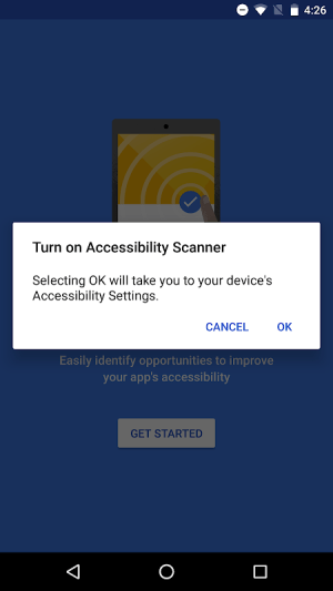 Accessibility Scanner 1.3.0.213565422 Screen 1