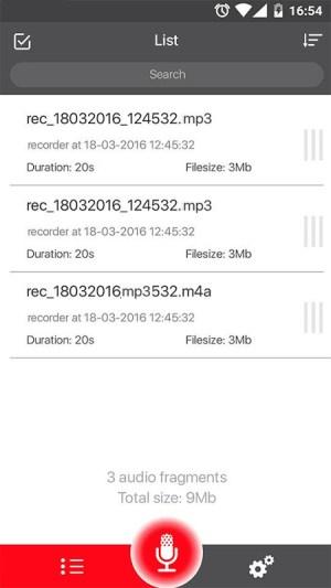 Voice Recorder 45 Screen 2
