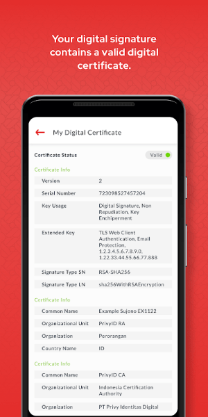 PrivyID - Digital Signature 4.2.6 Screen 4