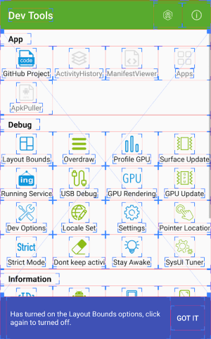 Dev Tools(Android Developer Tools) 3.0.0 Screen 1