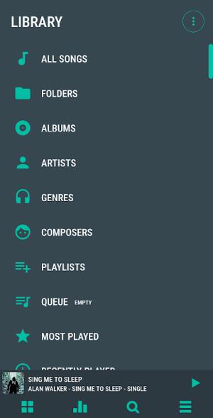 Aurora - Material Poweramp v3 Skin 2.0 Screen 1