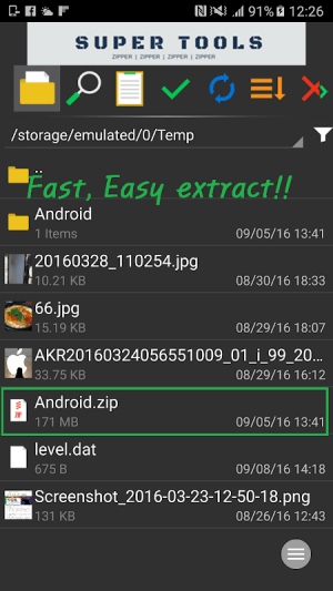 Android 7Zipper - File Explorer (zip, 7zip, rar) Screen 5