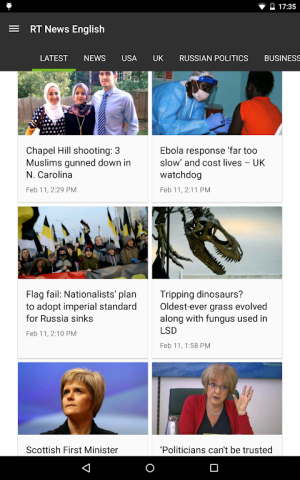 RT News (Russia Today) 3.5.4 Screen 20