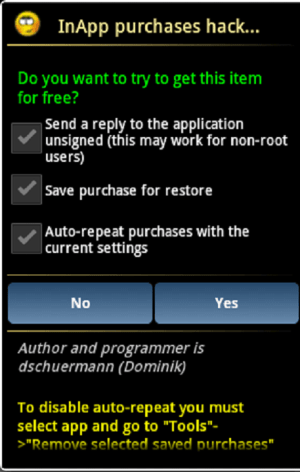 Android Lucky Patcher Screen 2