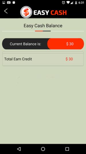 com.easycash.android 1.0 Screen 1