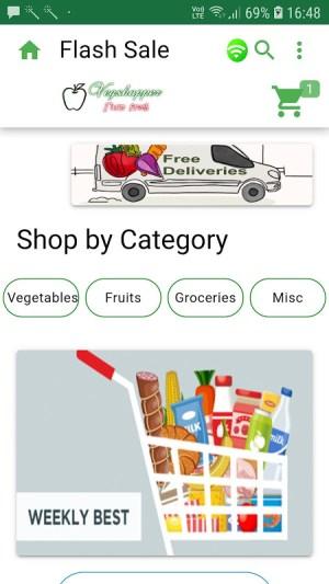 Vegshopper mobile app for vegetables sales online 5.1.11 Screen 10
