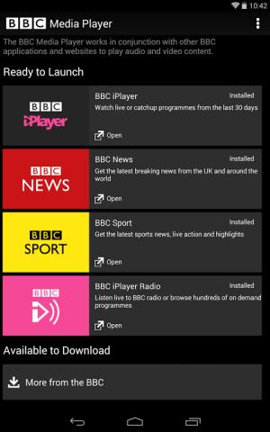 BBC Media Player 3.1.0 Screen 4