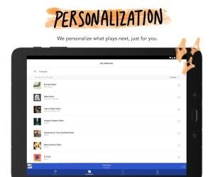 Android Pandora Music Screen 9