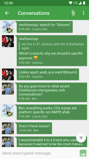 Android Conversations (Jabber / XMPP) Screen 5