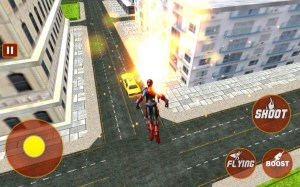 Android Grand City Simulation Flying Superhero Screen 1