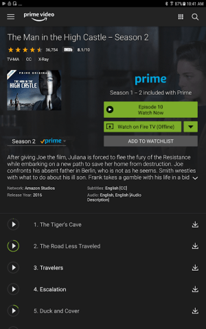 Amazon Prime Video 3.0.256.46242 Screen 5