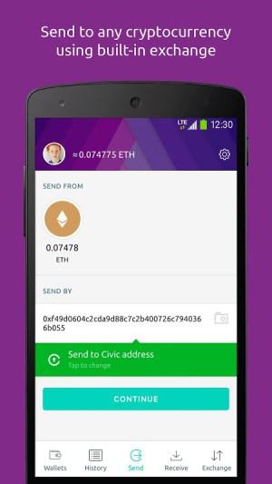 Freewallet: Ethereum Token Wallet 1.0.20 Screen 2