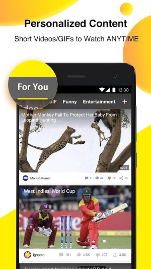 Android BuzzVideo: Viral Videos, Funny GIFs & TV shows Screen 1