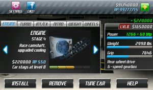 Android Drag Racing Screen 10