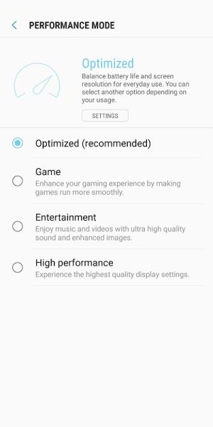 Device Maintenance 2.0.10.1 Screen 3