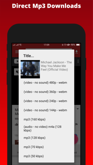 Android SnobTube-youtube video and audio downloader from over 100 sites Screen 2