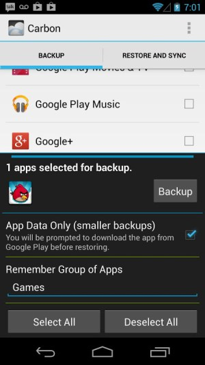 Helium - App Sync and Backup 1.1.4.6 Screen 1