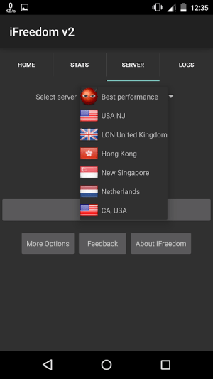 iFreedom v2 19.1.9 Screen 1