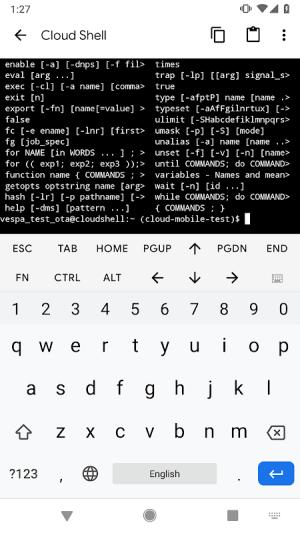 Cloud Console 1.11.0.240 Screen 4