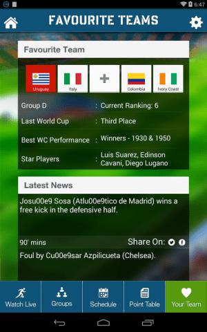 Live Football World Cup 2014 1.0 Screen 4