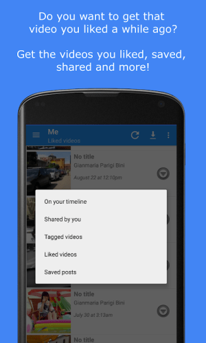 Android MyVideoDownloader for Facebook: download videos! Screen 2