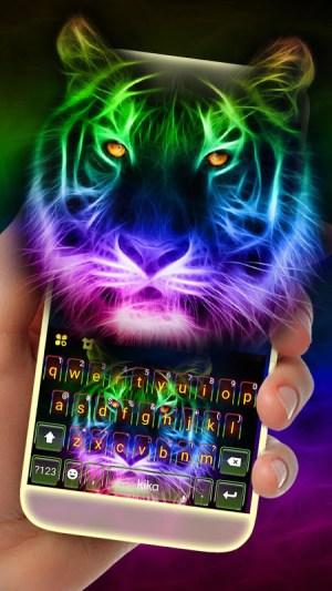 Neon Tiger Keyboard Theme 3.0.A Screen 2