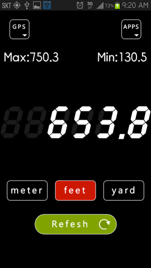 Android Altimeter Screen 1