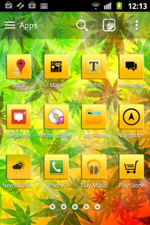 Weed Reggae HD GO Launcher 3.13 Screen 7