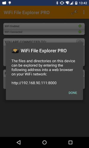 Android WiFi File Explorer PRO Screen 3