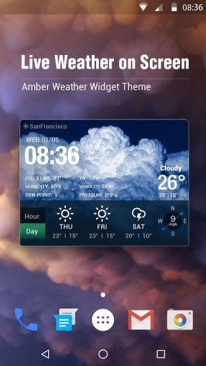 Android Local Weather Report Widget Screen 14