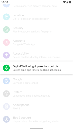 Digital Wellbeing 1.0.281262011.beta Screen 3