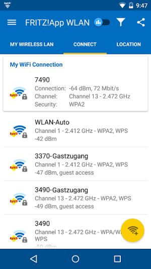 FRITZ!App WLAN 2.8.15 (22981) BETA Screen 1