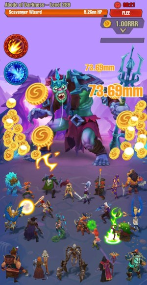 Android Idle game offline clicker: Juggernaut Champions Screen 4