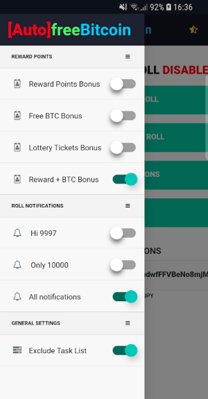Android Auto FreeBitcoin Screen 2